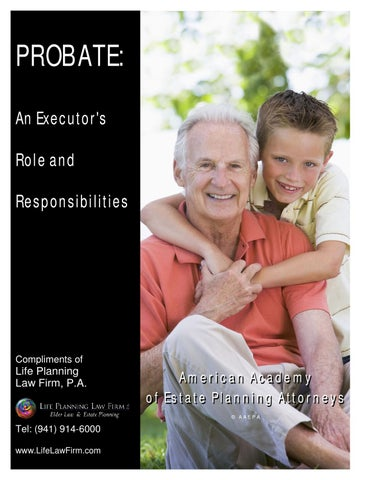 Probate executors role