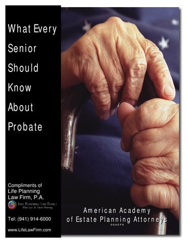 What every senior should know about probate