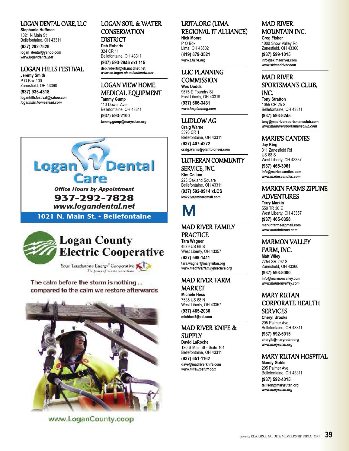Logan County Ohio Chamber Directory By Bellefontaine