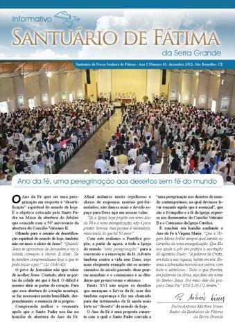 [Informativo Santuário de Fátima (dezembro/2012)]