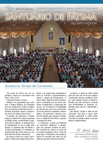 [Informativo Santuário de Fátima (fevereiro/2013)]