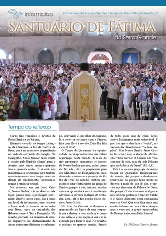 [Informativo Santuário de Fátima (março/2013)]