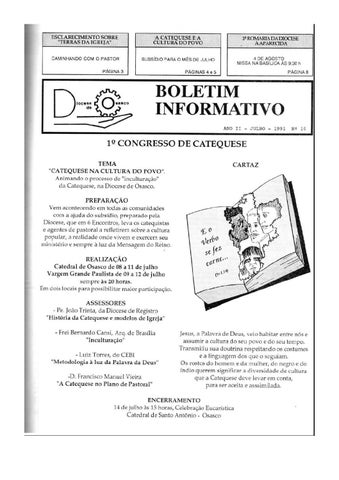 [Bio Diocesano Julho 1991]