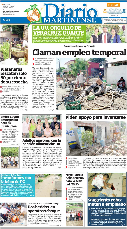 diario el martinense 29 de agosto de 2013 by diario de poza rica sa de cv