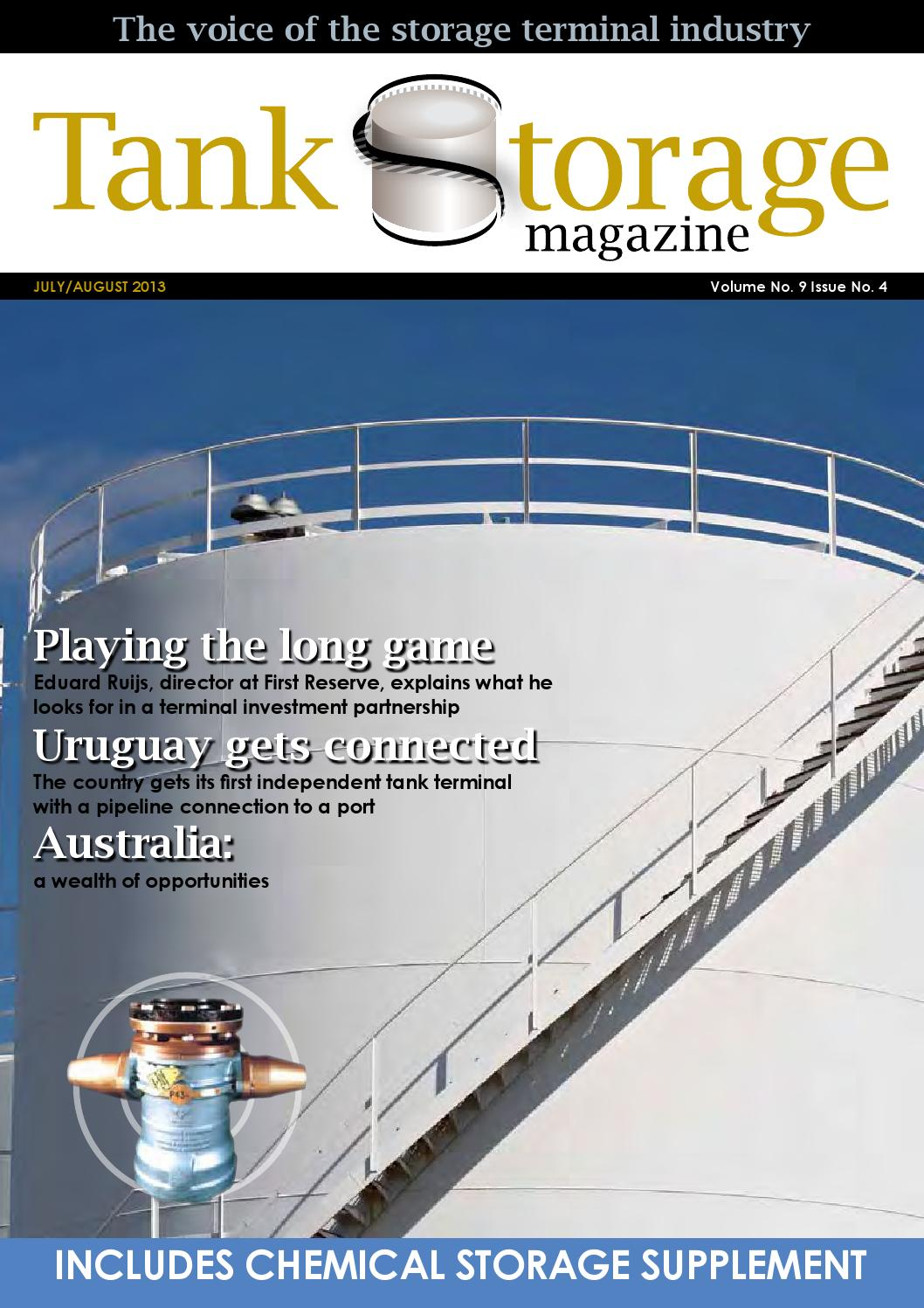 Tank Storage Magazine July Aug 2013 By Woodcote Media Ltd