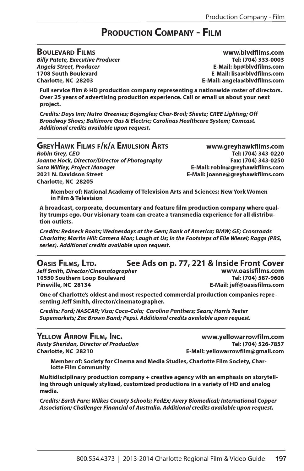 the charlotte regional film video guide 2013 2014 by oz the charlotte regional film video guide 2013 2014 by oz publishing inc page 197 issuu