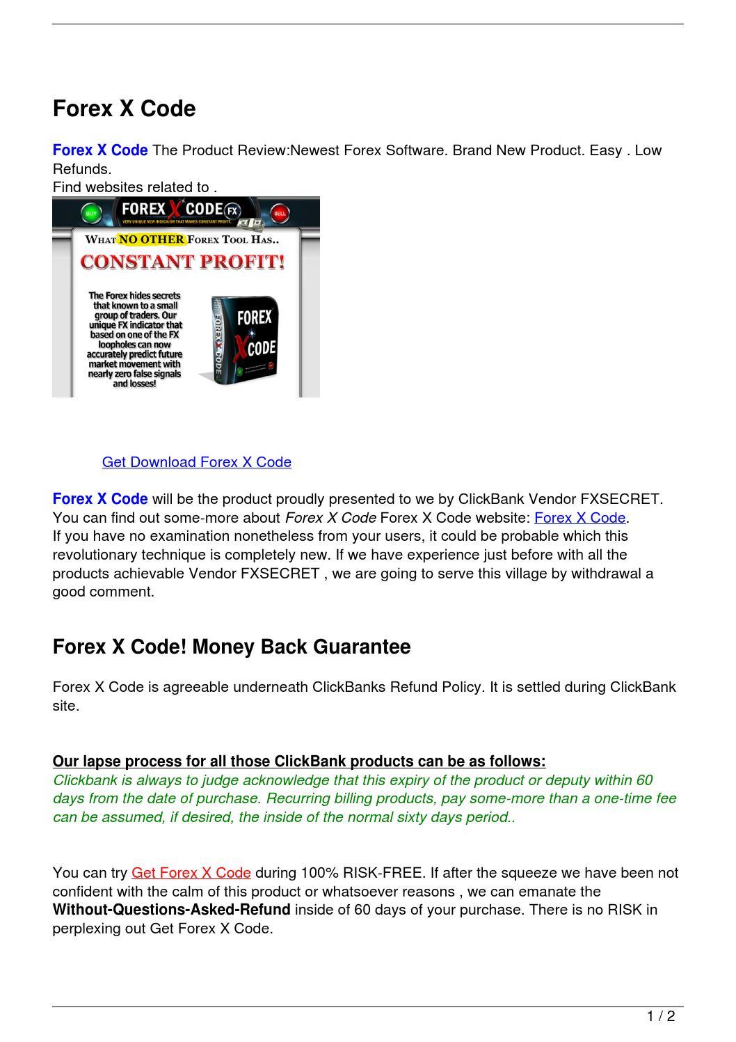 Forex x code
