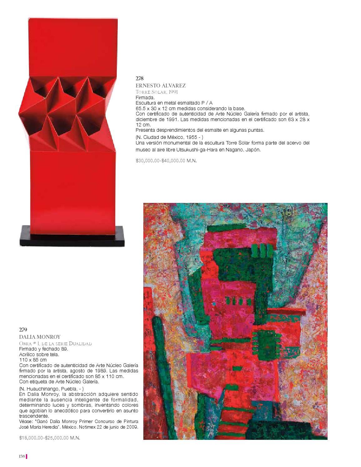 Cat logo subasta de arte mexicano by morton subastas issuu - Bonanova subastas catalogo ...