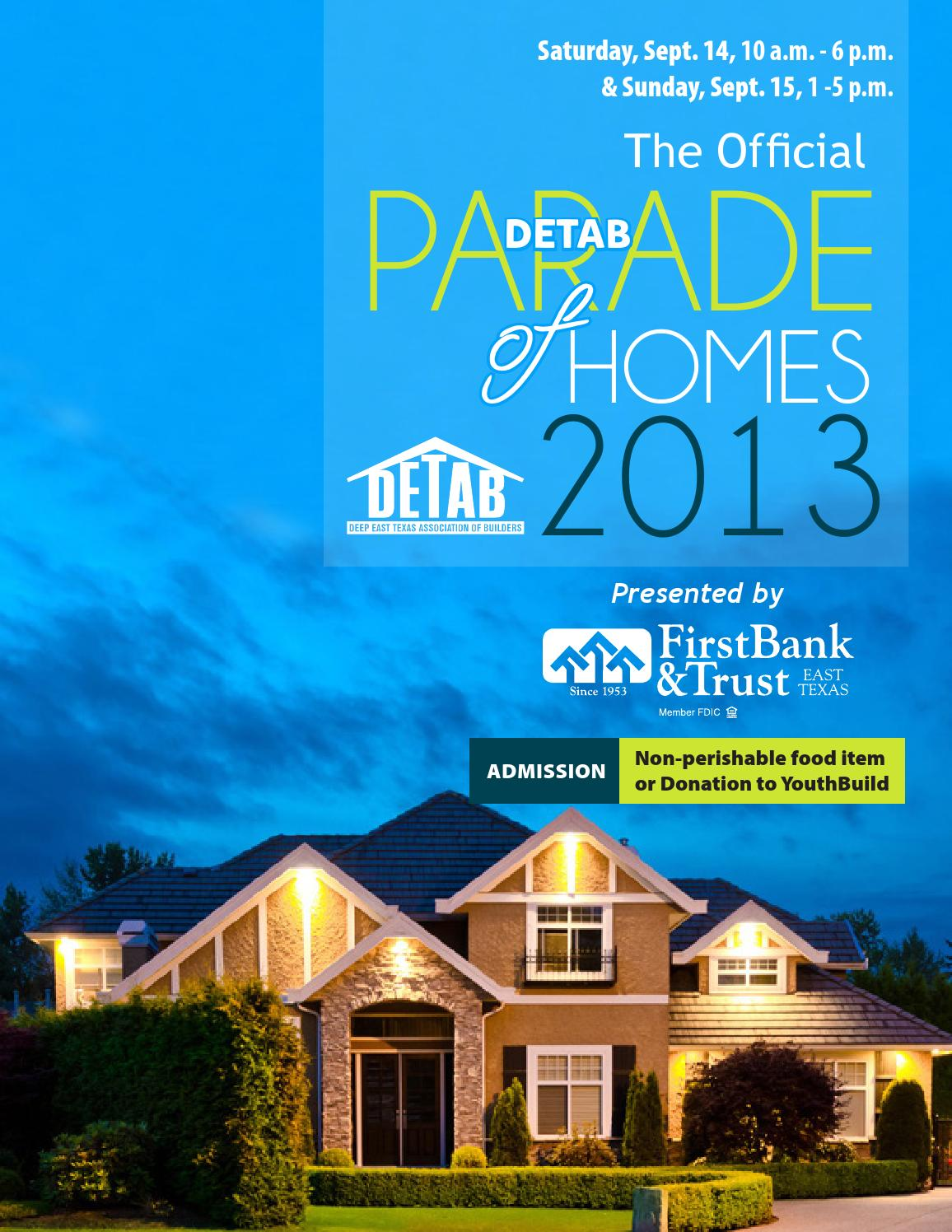 2013 parade of homes magazine by zimmermancommunications for Home builders magazine