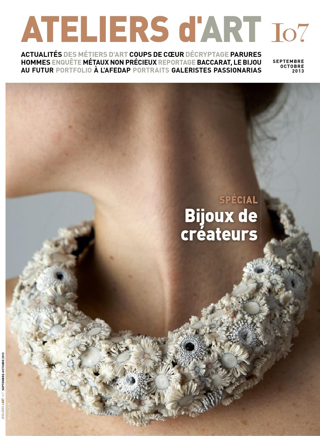 Magazine ateliers d 39 art 107 by ateliers d 39 art de france issuu - Ateliers d arts de france ...