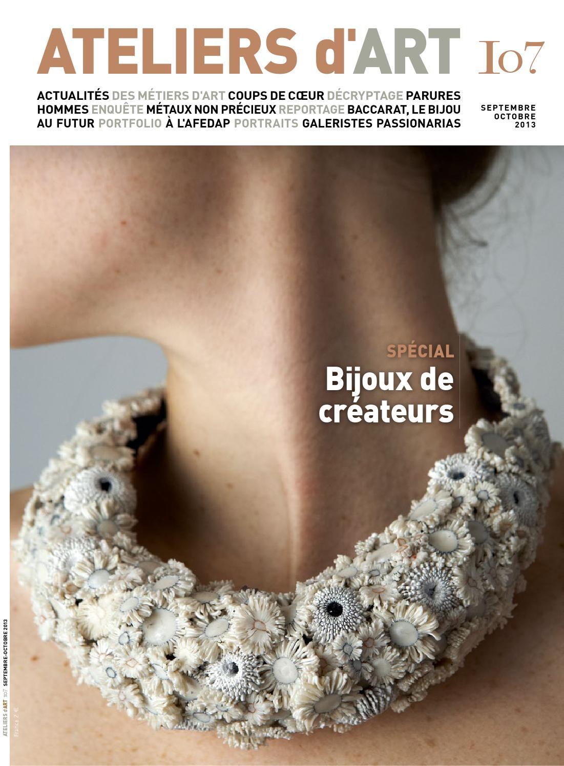 Magazine ateliers d 39 art 107 by ateliers d 39 art de france issuu - Ateliers d arts de france ...