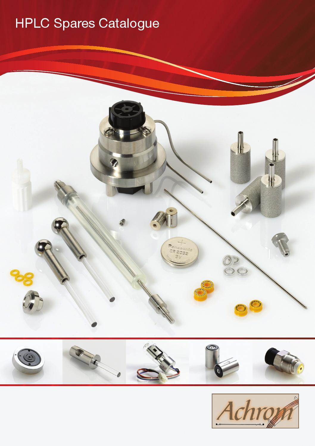 hplc spares catalogue  u2013 achrom by kinesis