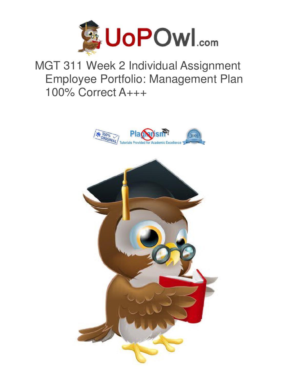 employee portfolio summary mgt 311