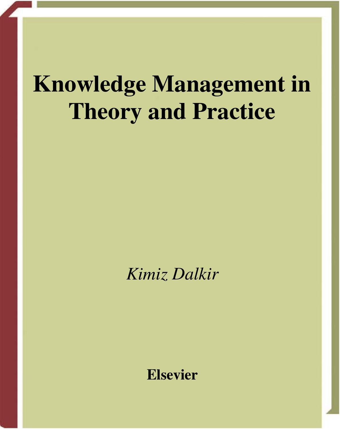 thesis on knowledge management system