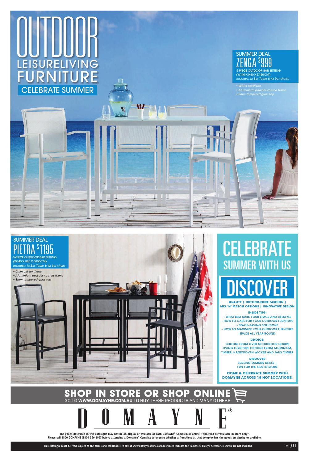 Outdoor Furniture By Domayne Issuu
