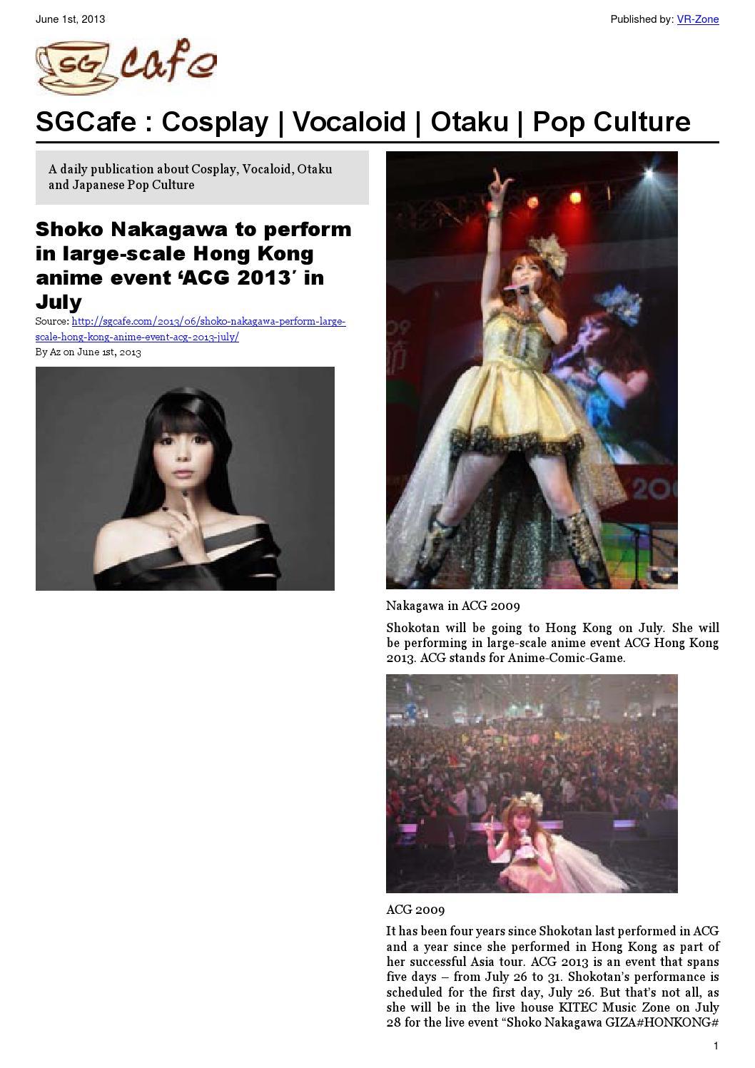 imouto.tv kondou asami sexy SGcafe Anime News For Otaku Jun 2013 Issue by VR Media Pte. Ltd. - issuu