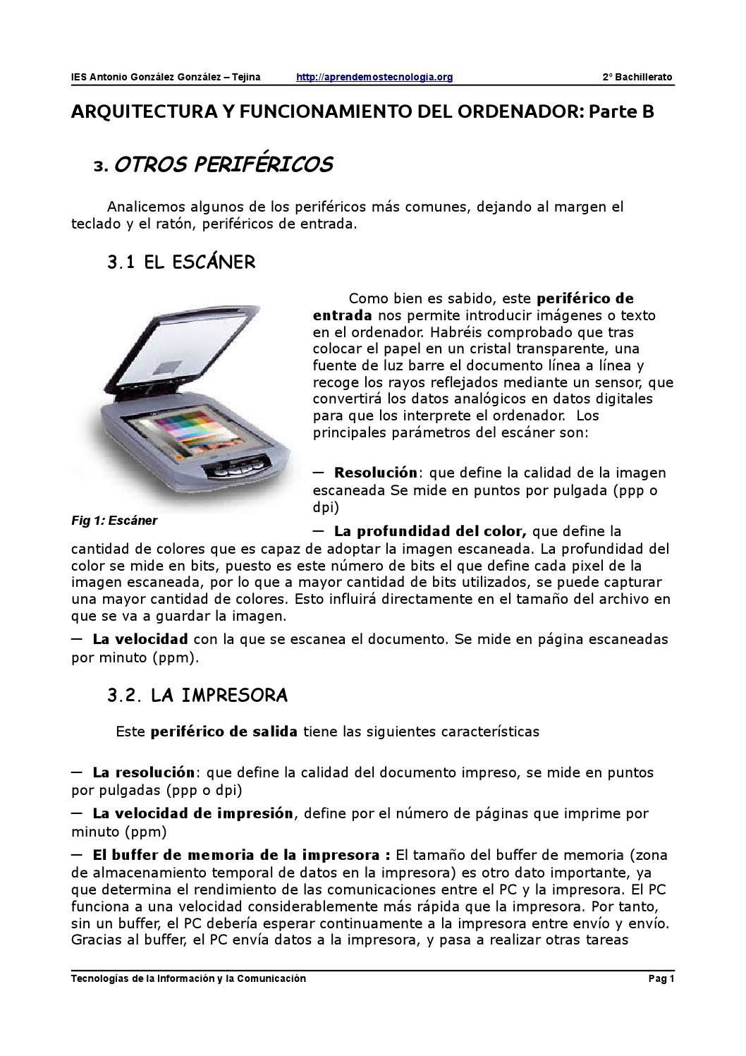 Arquitectura ordenador parte b by riccardo biagini issuu for Arquitectura ordenador