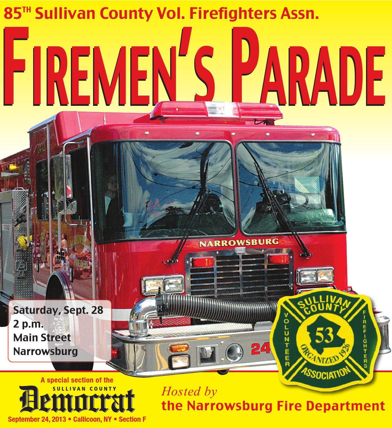 Department Of Motor Vehicles Huntington Ny: Sullivan County Firefighters Parade 2013 By Sullivan