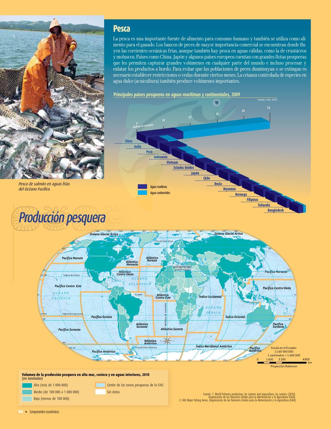 Atlas de geograf a del mundo by rar muri page 96 issuu for Peces de agua fria para consumo humano