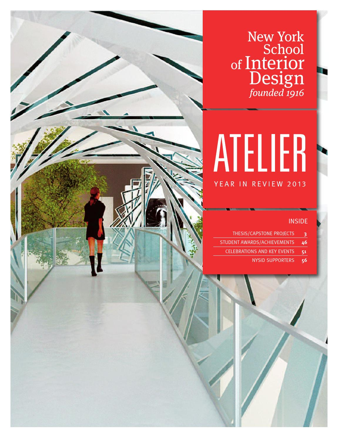 Issuu atelier year in review 2013 by new york school of - How many years is interior design school ...