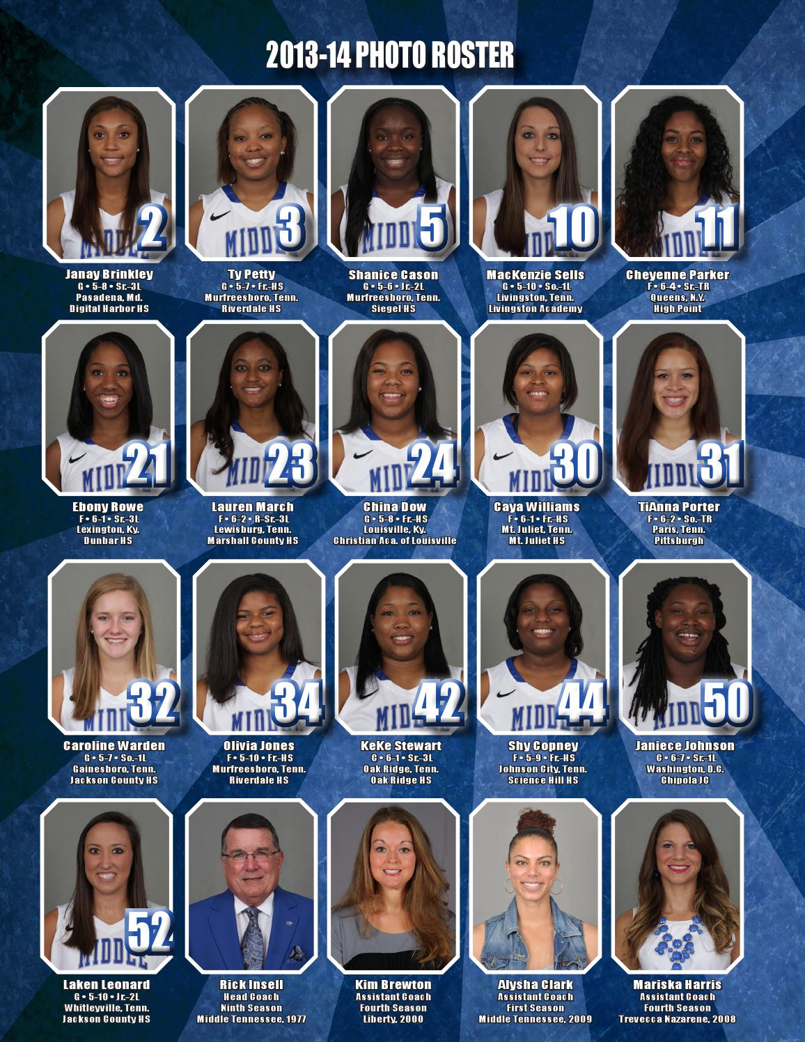 2013 14 Middle Tennessee Women 39 S Basketball Information Guide By Middle Tennessee State