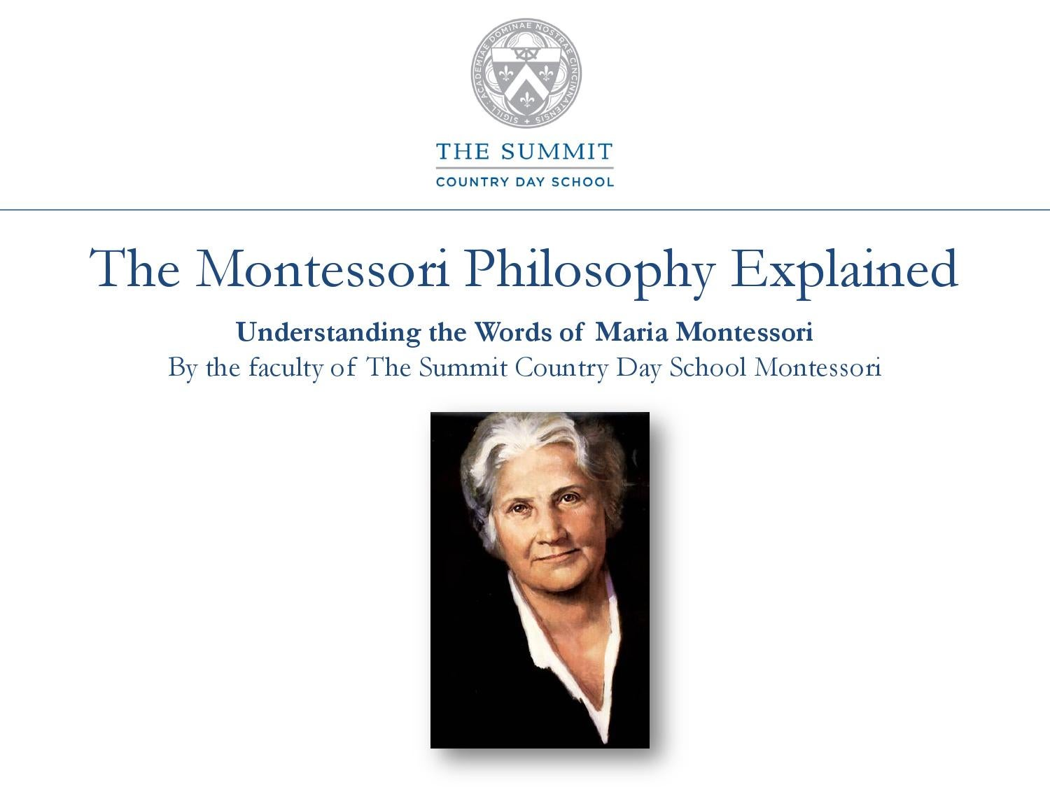 what is the relationship between freedom and discipline in the montessori prepared environment