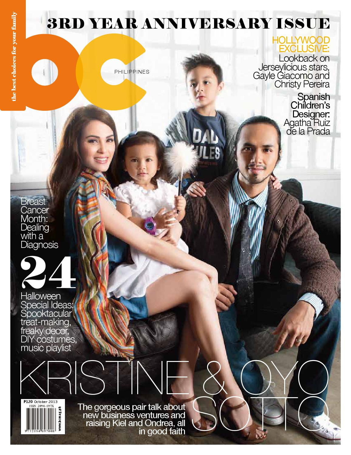 BC Philippines October 2013 Kristine And Oyo Sotto Cover 2