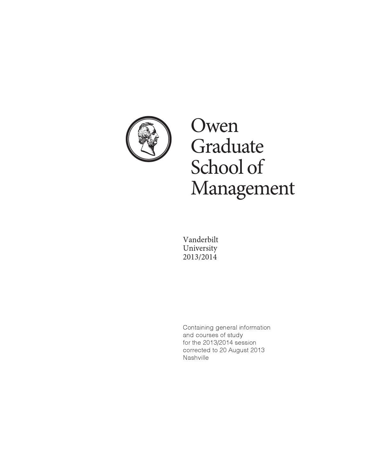 owen school of management essays Kellogg northwestern full-time mba essay 1 school of management is located york stanford tepper ucla anderson unc kenan-flagler vanderbilt owen wharton.