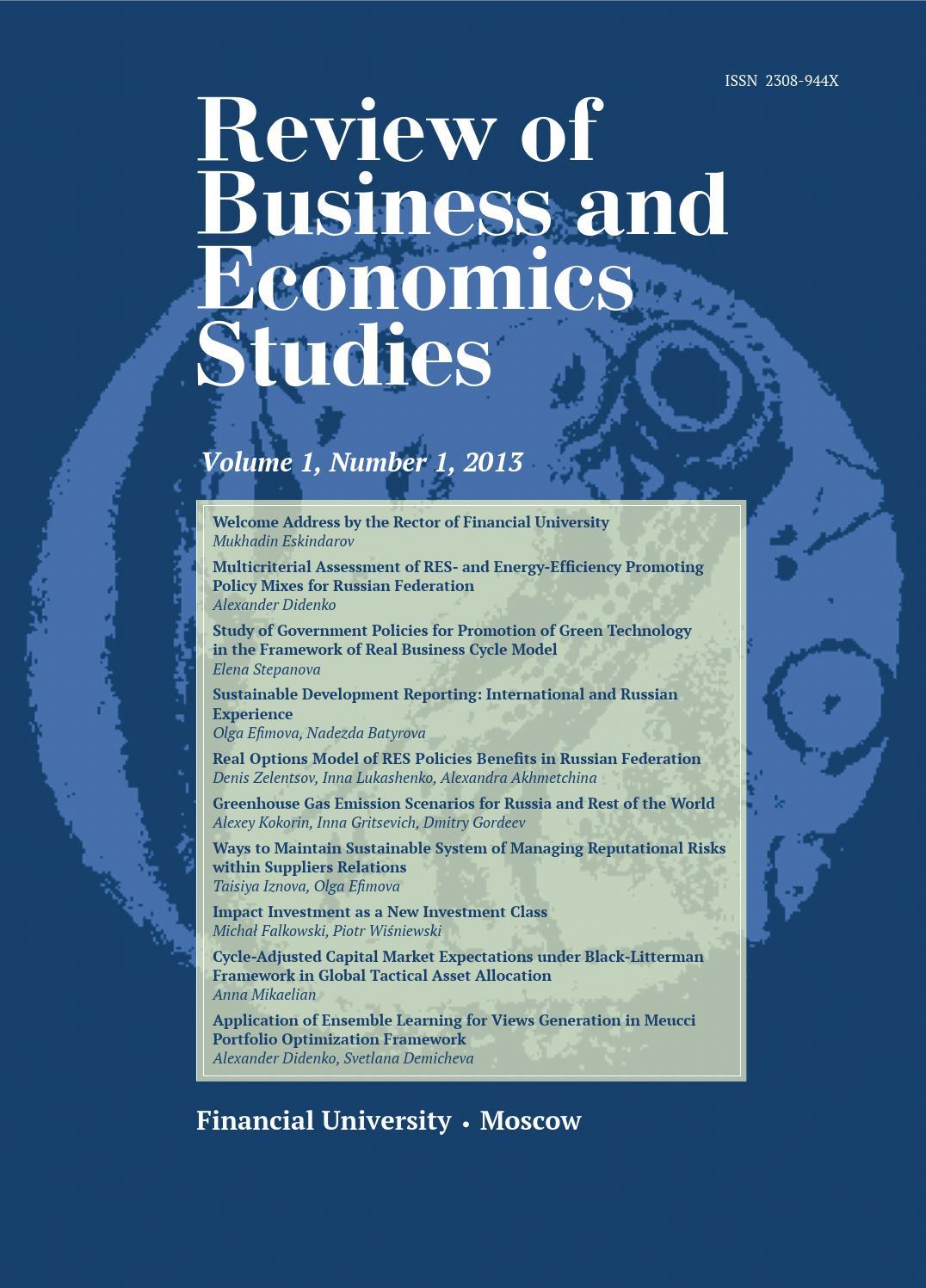 dissertation abstracts economics