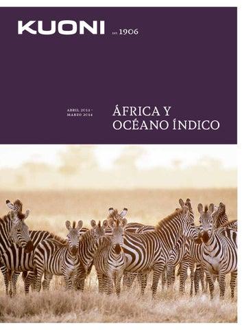 Kuoni Catálogo de Viajes, África y Oceáno Indico