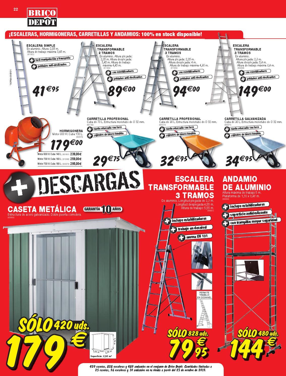 Cat logo y ofertas brico depot v lido 14 11 by broshuri for Escalera piscina bricodepot