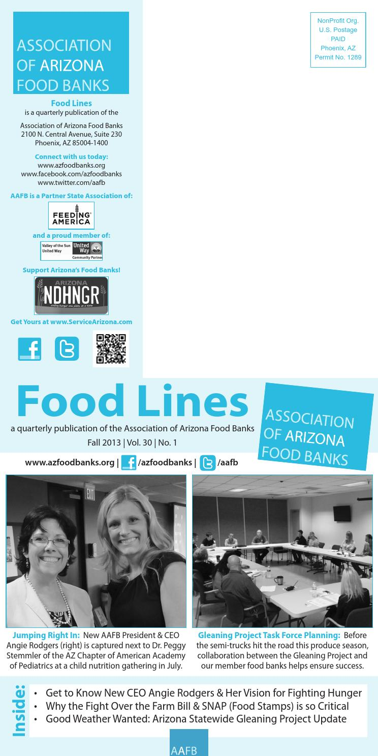 AAFB Food Lines Newsletter - Fall 2013 by Association of ...