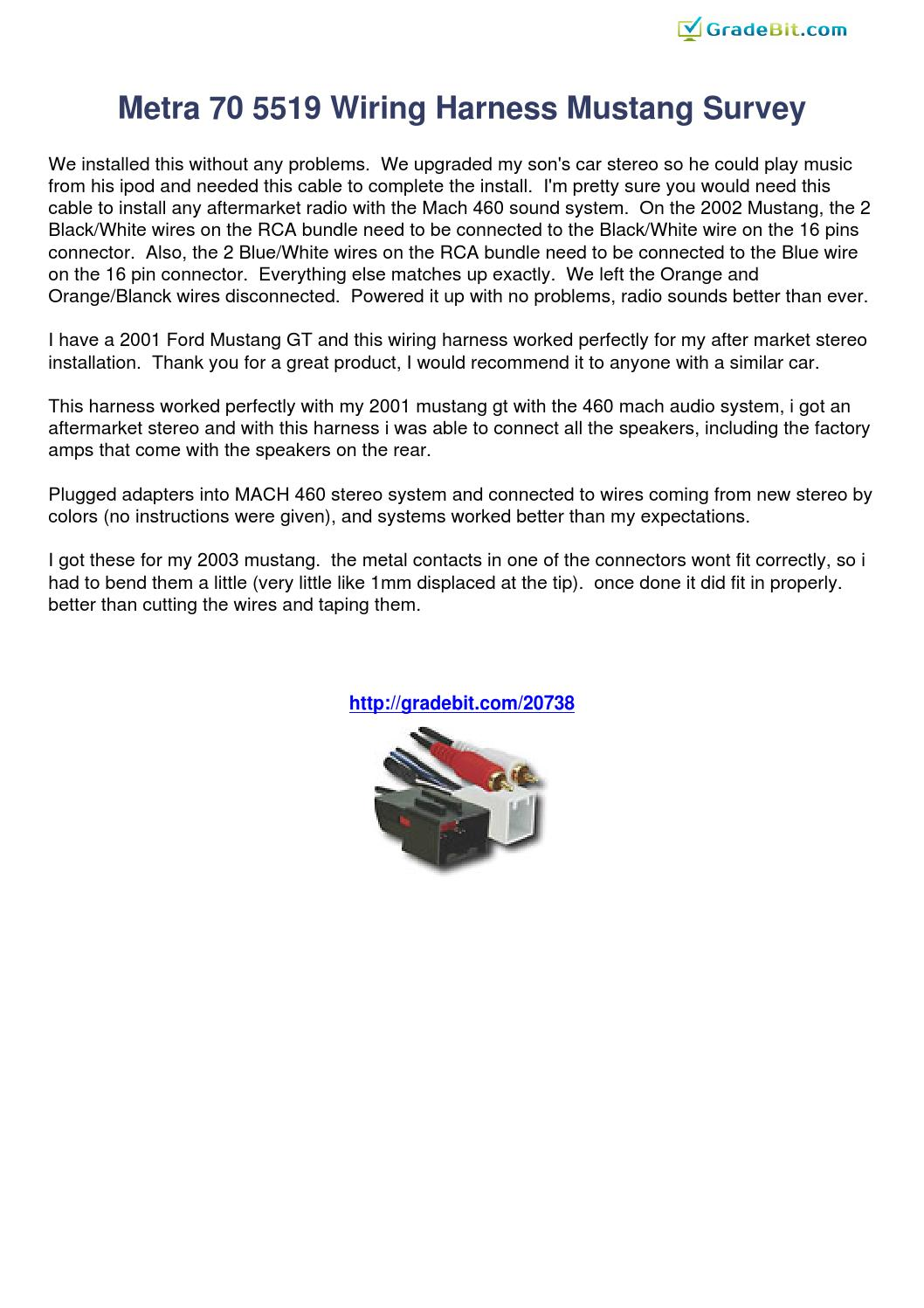 metra 70 5519 wiring harness mustang survey 20738 by klacertio issuu