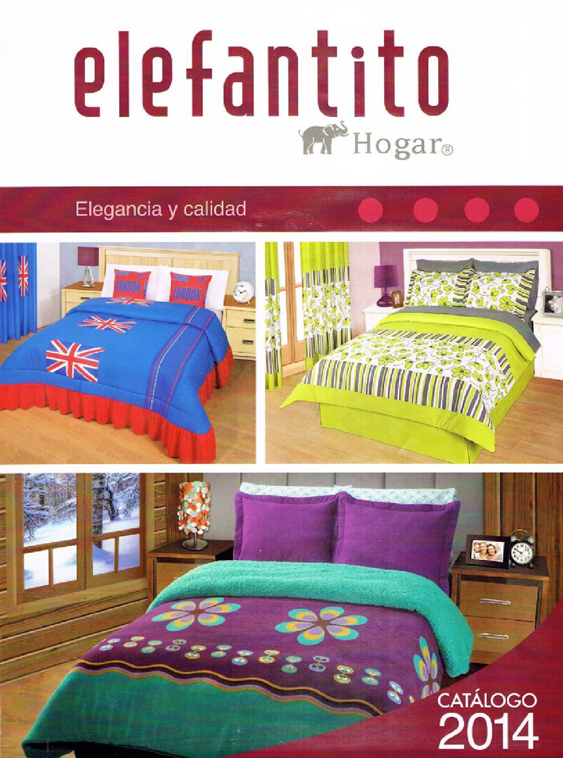 Catalogo elefantito hogar 2014 by colchas edredones y - Colchas y edredones ...