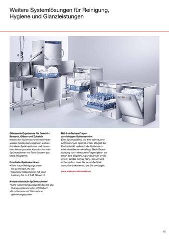 issuu die neuen sp lmaschinen von miele professional by. Black Bedroom Furniture Sets. Home Design Ideas