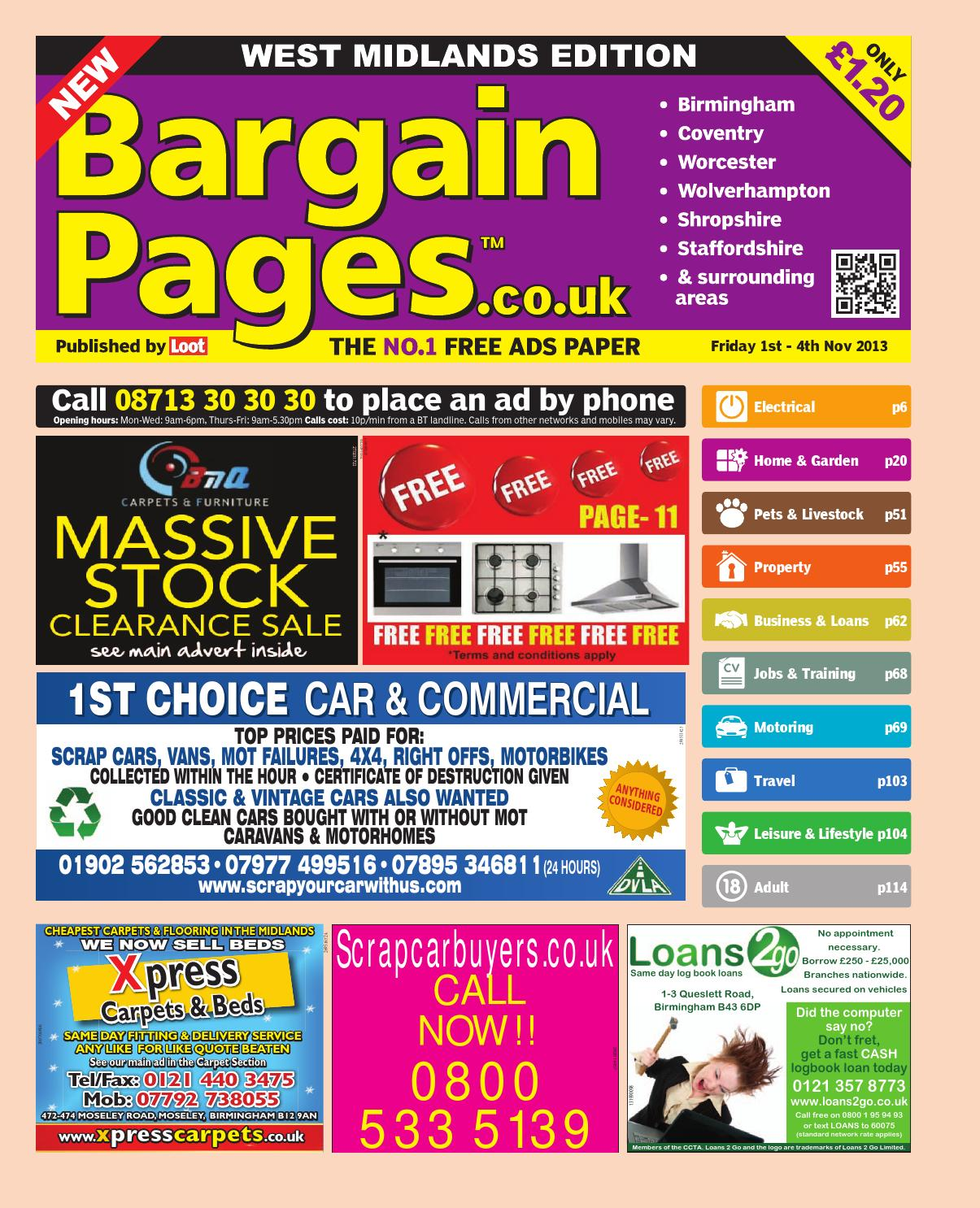 Bargain pages west midlands by Loot - issuu