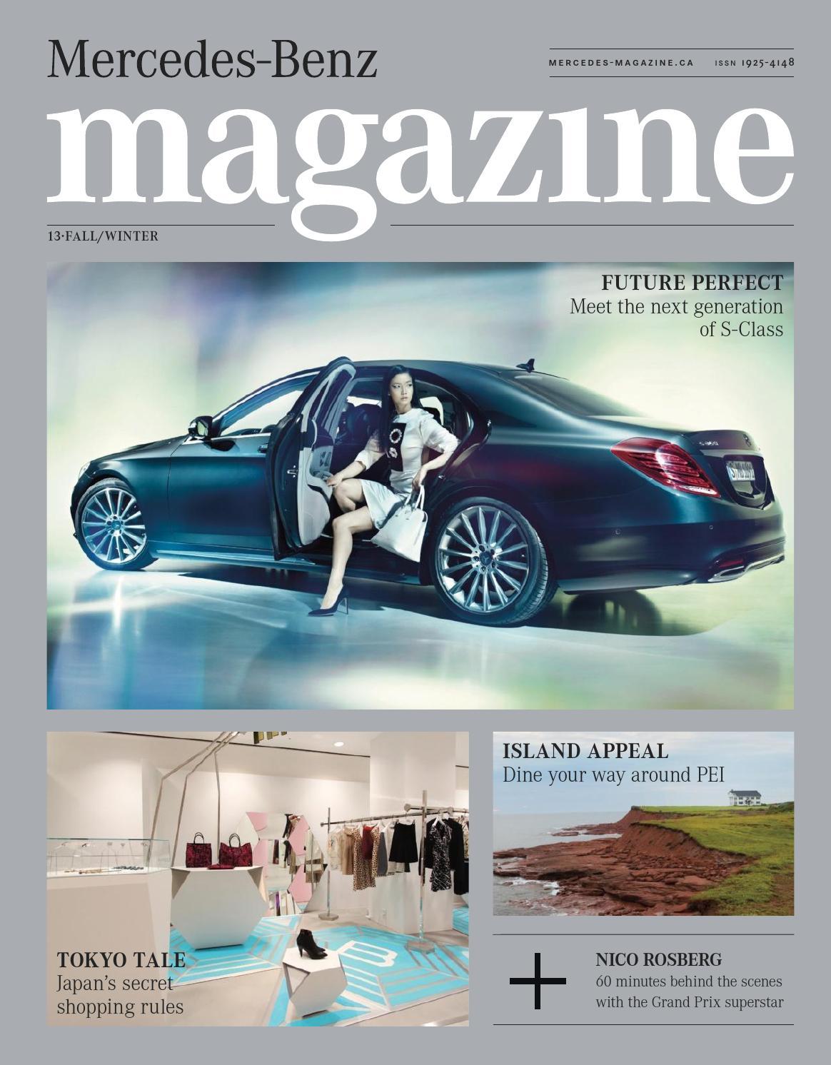 Mercedes benz magazine fall winter 2013 by spafax canada for Mercedes benz magazine