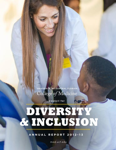 UCF College of Medicine Diversity and Inclusion Annual Report 2013