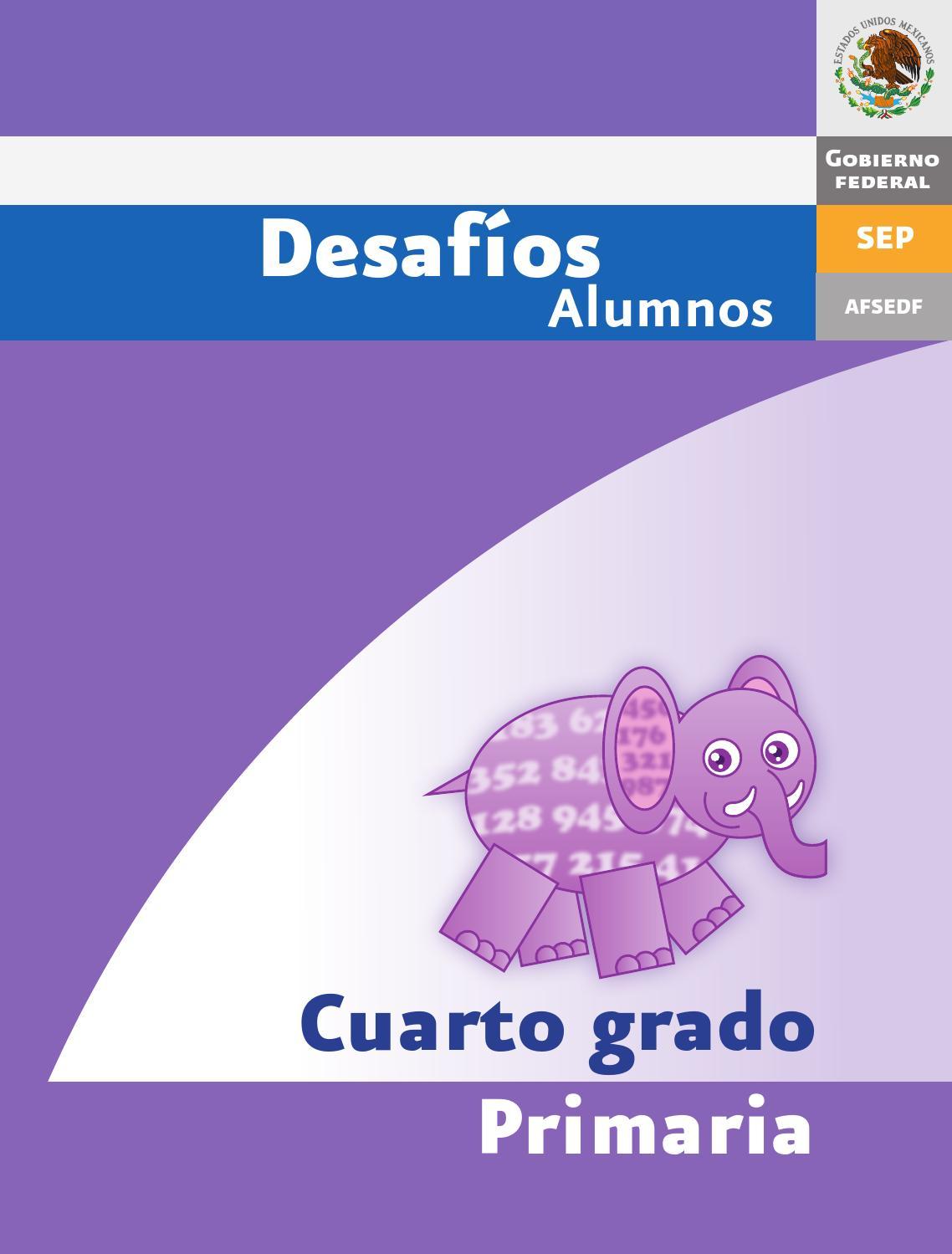 Desafios matematicos alumnos 4 cuarto grado primaria by for Cuarto primaria