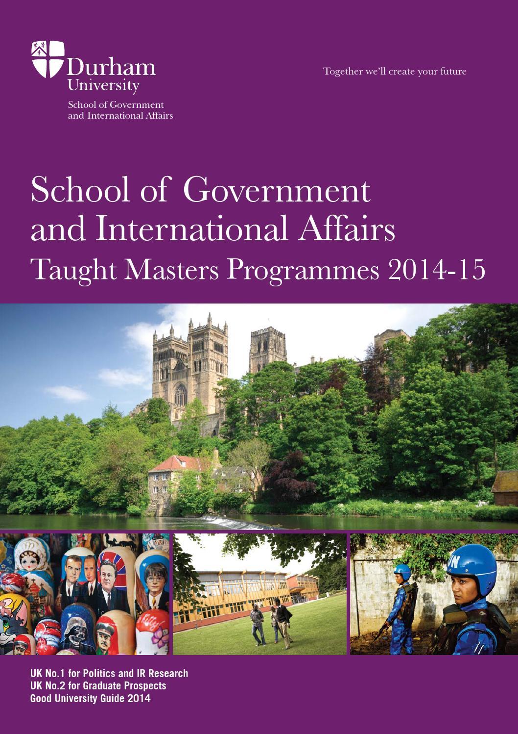 Sgia taught masters programmes 2014 15 by durham university issuu - Durham college international office ...