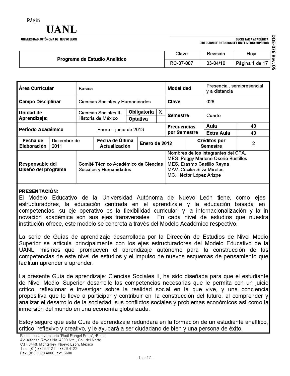 Ciencias sociales 2 historia de mexico by biblioteca ing for Menu colegio base