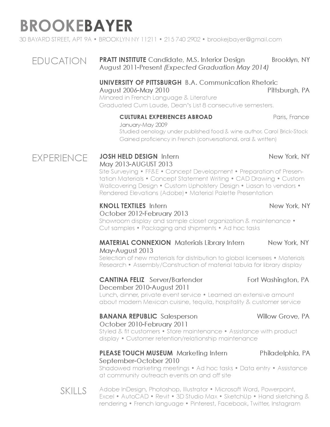 brooke bayer  resume fall 2013 by brookejbayer
