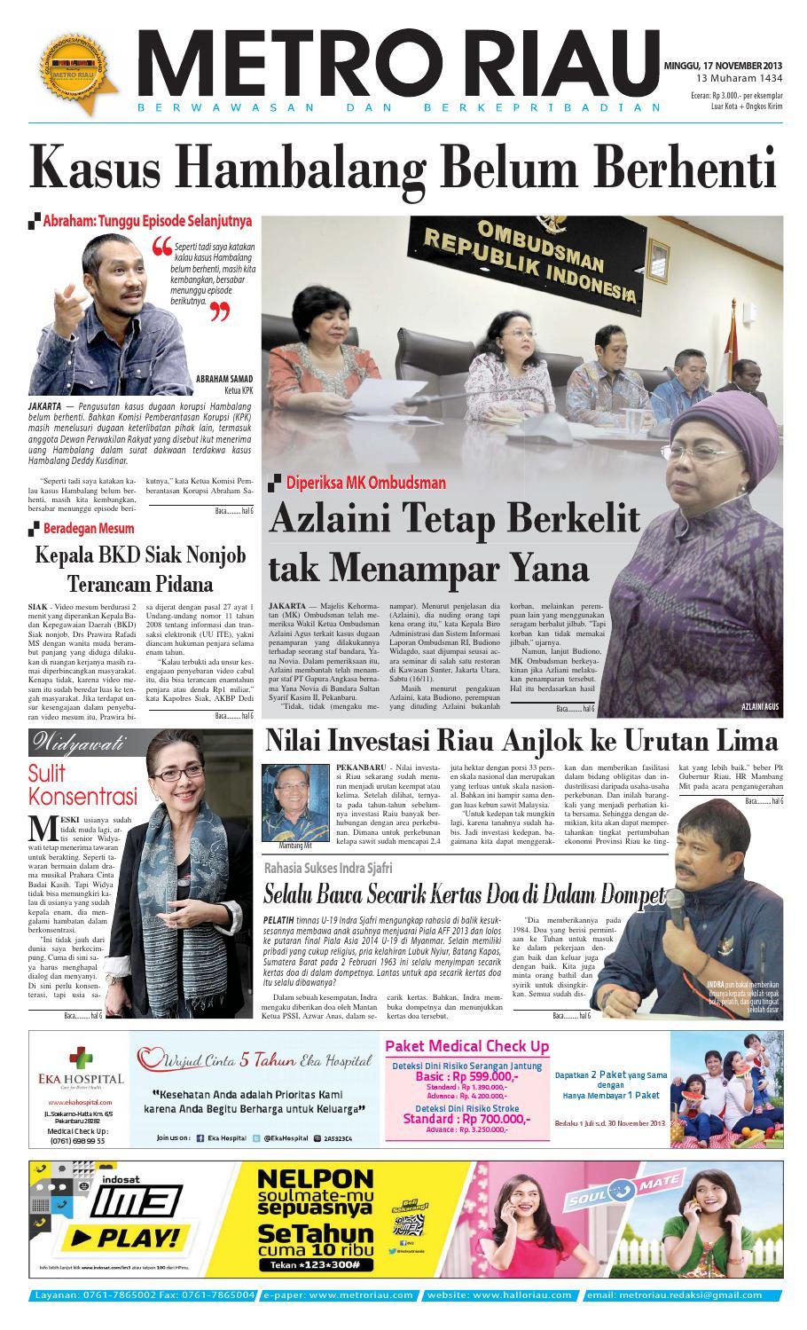 010913 By Harian Pagi Metro Riau Issuu