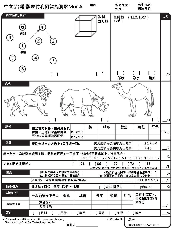 iq test 中文 版