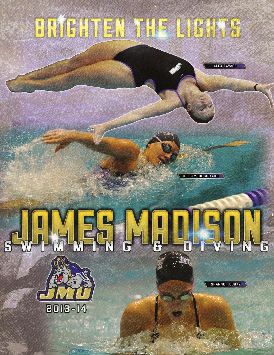 2013 14 james madison women 39 s swimming diving guide by for James madison pets