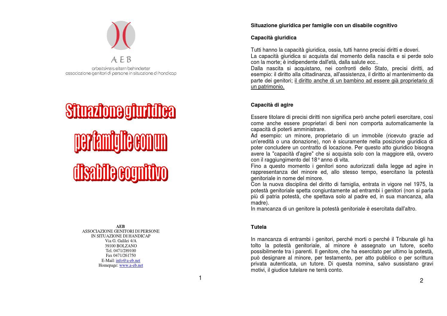 Situazione giuridica per famiglie con un disabile - Immobile intestato ad un solo coniuge ...