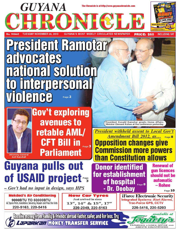 Guyana chronicle 26 11...