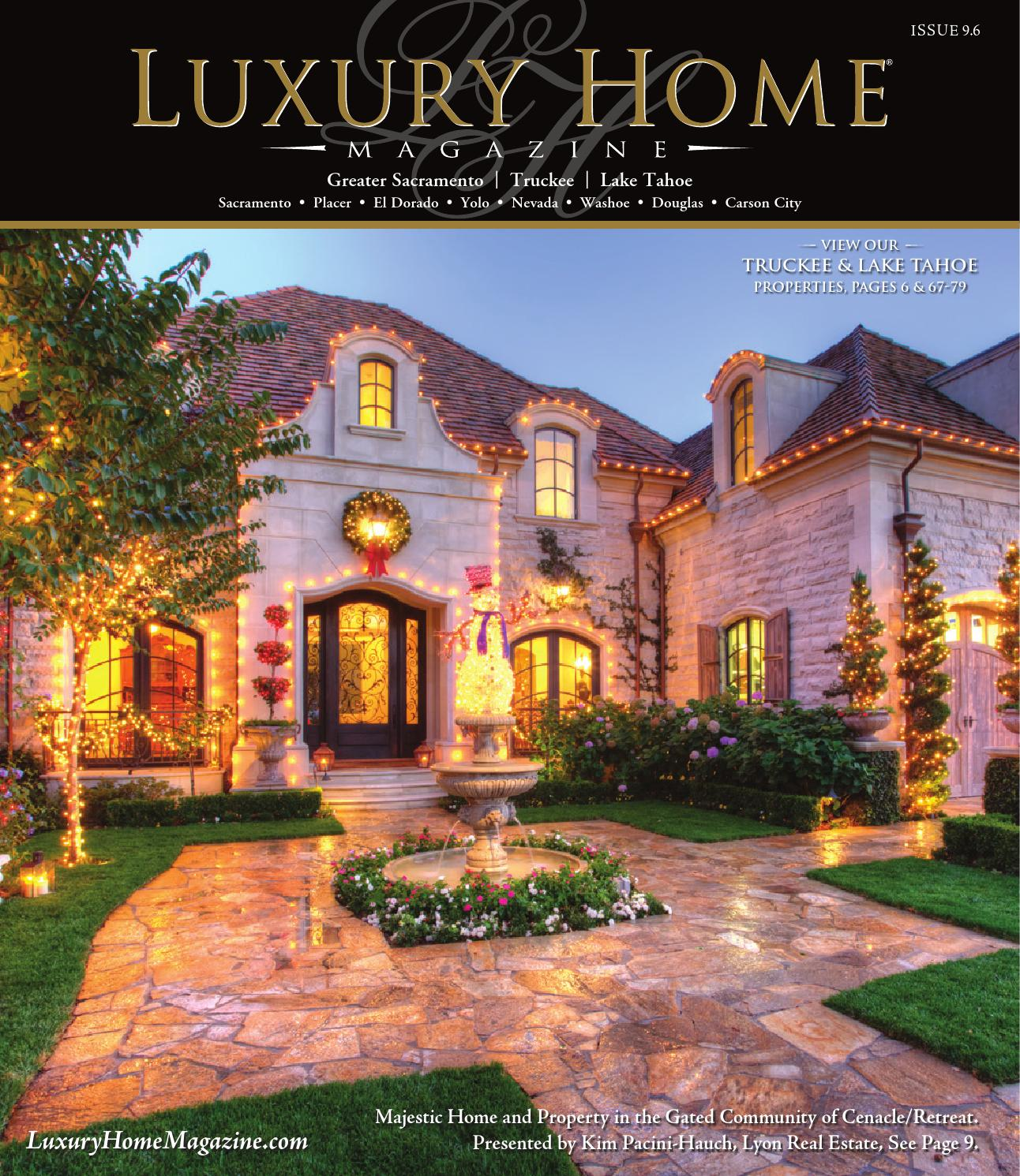Luxury home magazine sacramento lake tahoe issue 9 6 by for Home builders magazine