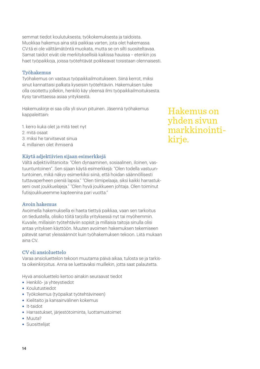 avoin työhakemus malli sähköposti Kiuruvesi