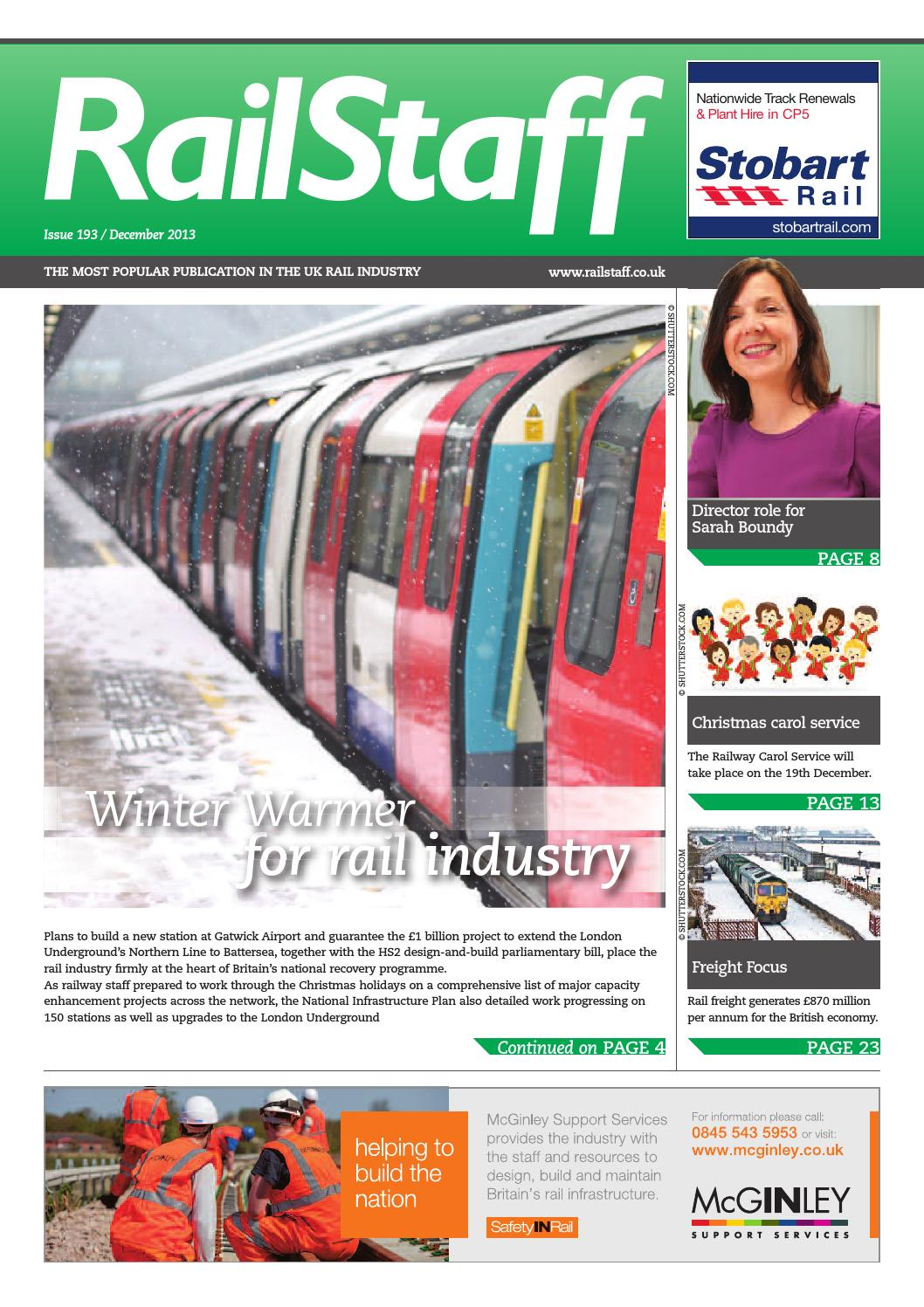 RailStaff December 2013 by Rail Media - issuu